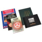 An assortment of watch reference books,