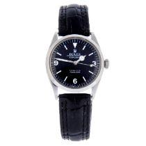 ROLEX - a gentleman's Oyster Perpetual Explorer wrist watch.