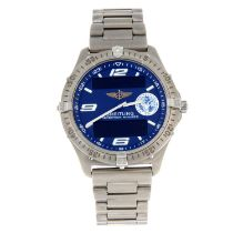 BREITLING - a gentleman's Aerospace chronograph bracelet watch.