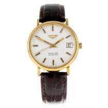 LONGINES - a gentleman's Conquest wrist watch.