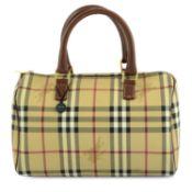 BURBERRY - a Haymarket Check Boston handbag.