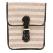 ASPREY - a canvas crossbody handbag.