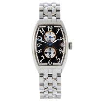 FRANCK MULLER - a Master Banker Triple-Time bracelet watch.