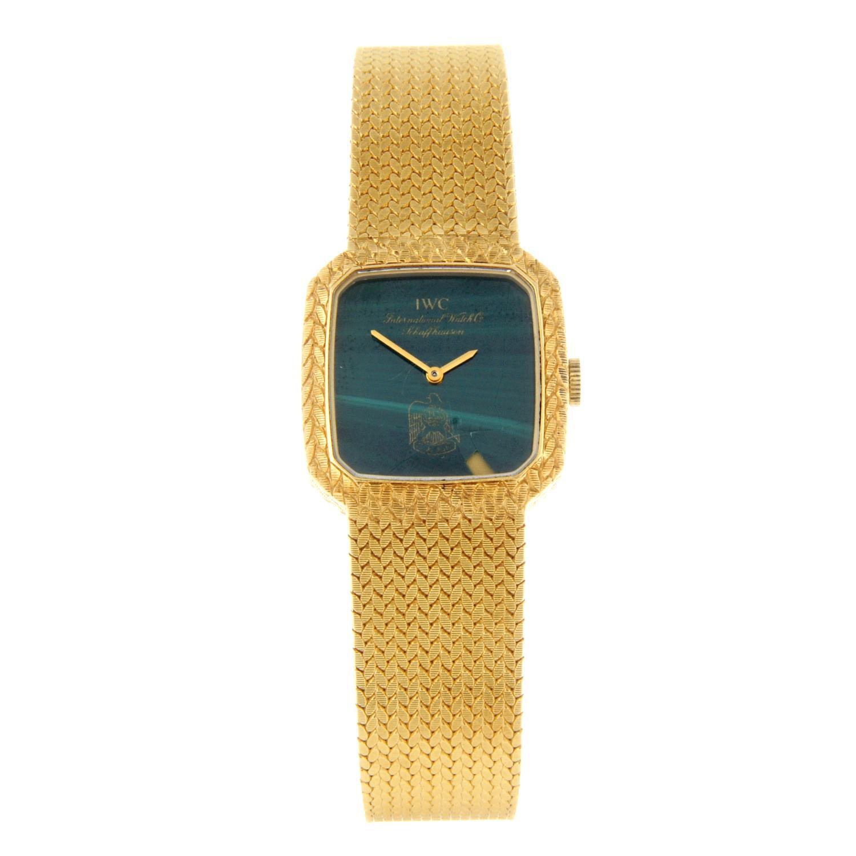 IWC - a bracelet watch.