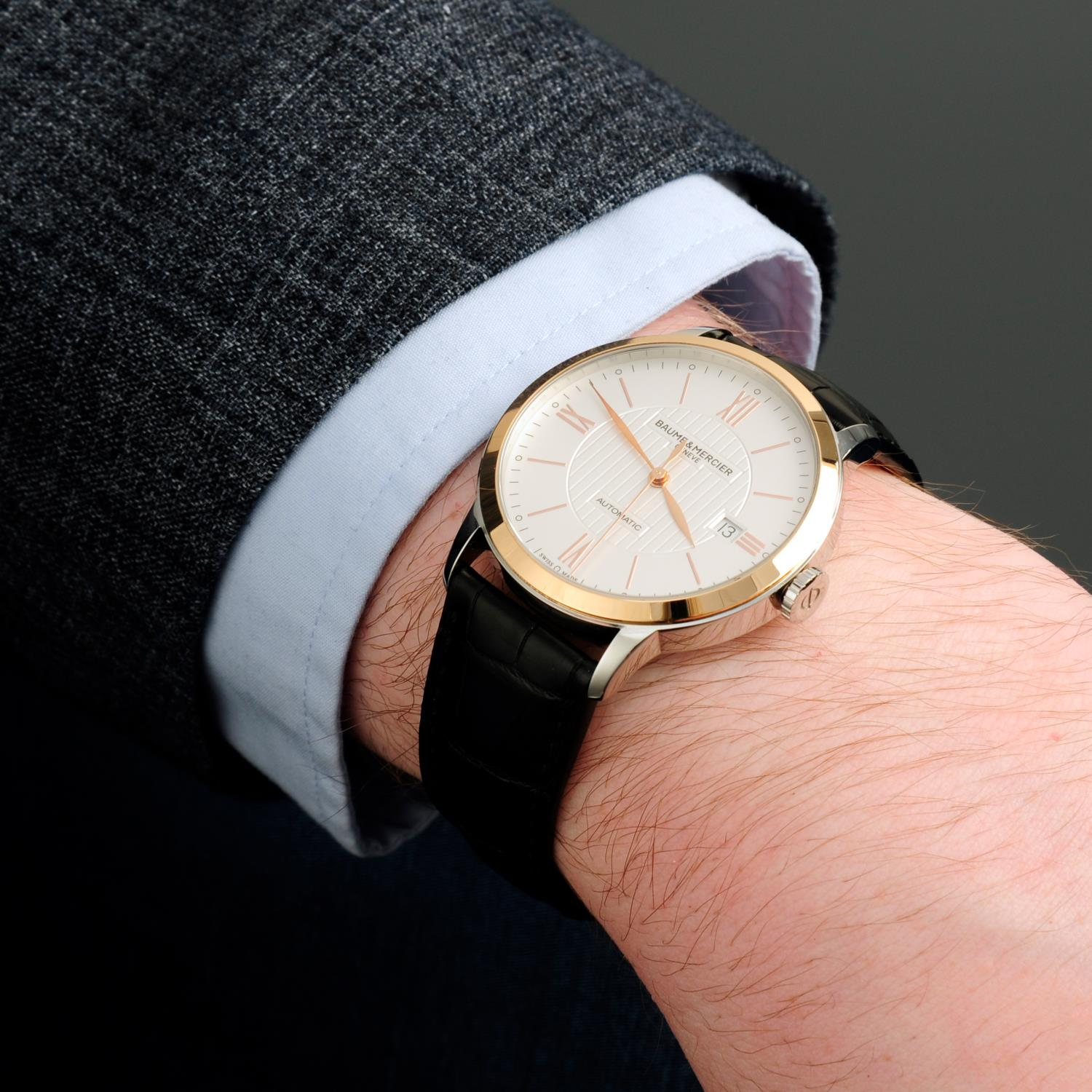 BAUME & MERCIER - a stainless steel Classima wrist watch. - Image 3 of 6