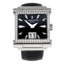 DE GRISOGONO - an Instrumento Grande Diamonds wrist watch.