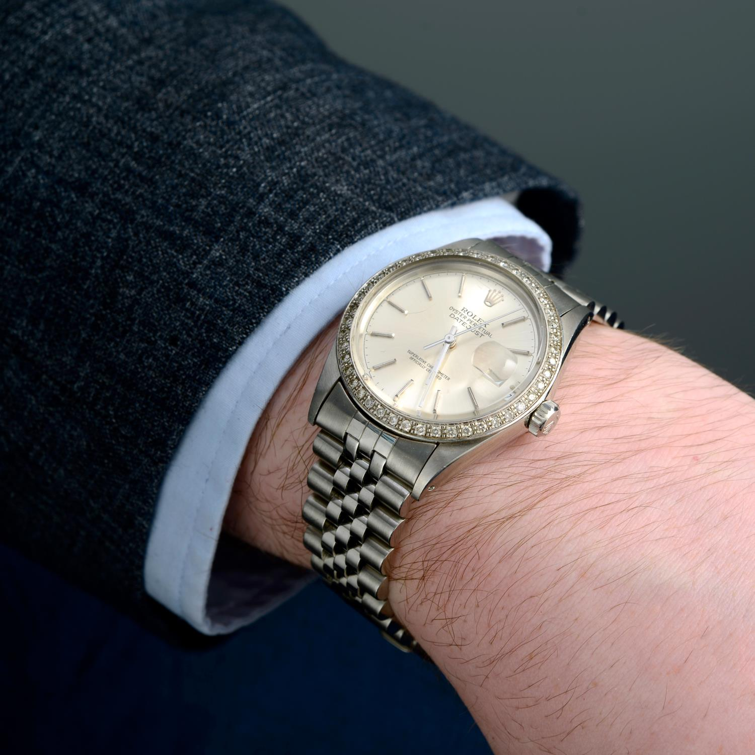 ROLEX - an Oyster Perpetual Datejust bracelet watch. - Image 3 of 5