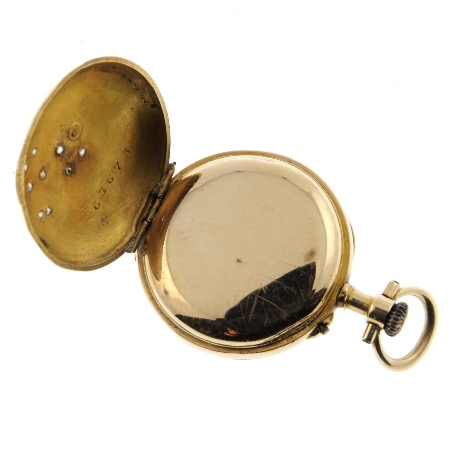 An open face fob watch. - Image 3 of 3