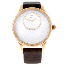 JAQUET DROZ - a limited edition Petite Heure Minute Art Deco wrist watch.