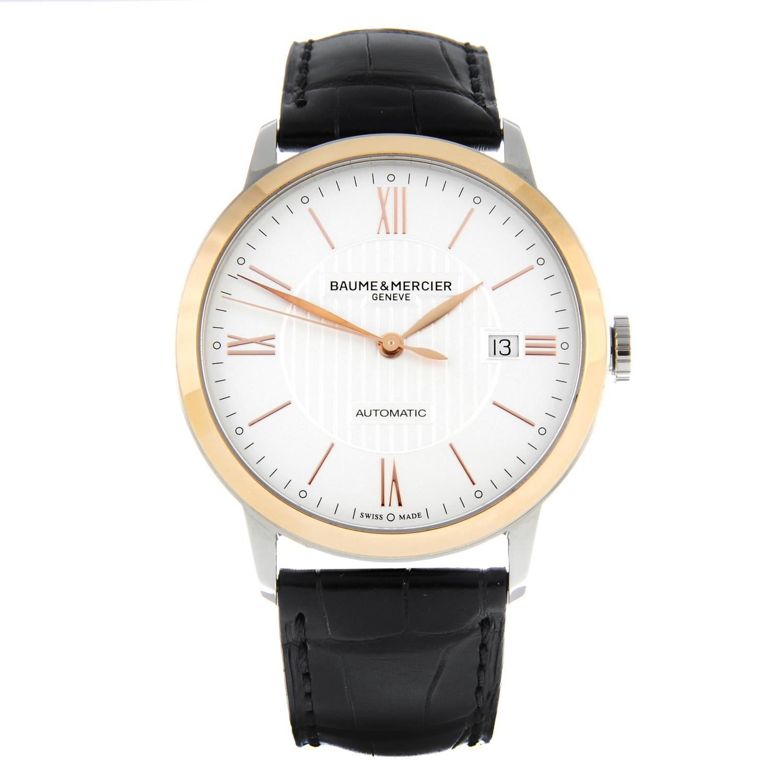 BAUME & MERCIER - a stainless steel Classima wrist watch.