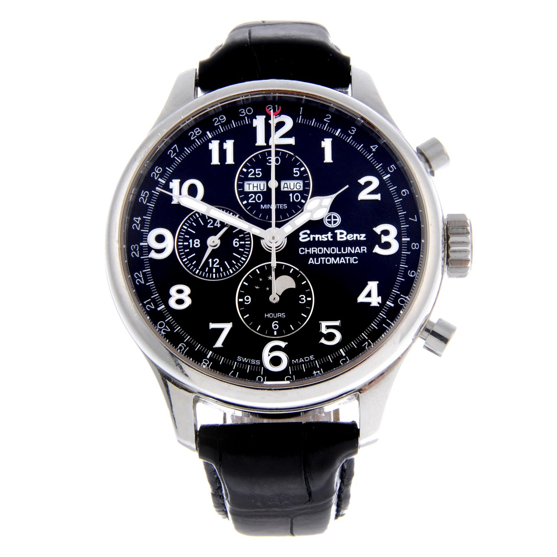 ERNST BENZ - a Chronolunar chronograph wrist watch.Stainless steel case with exhibition caseback.