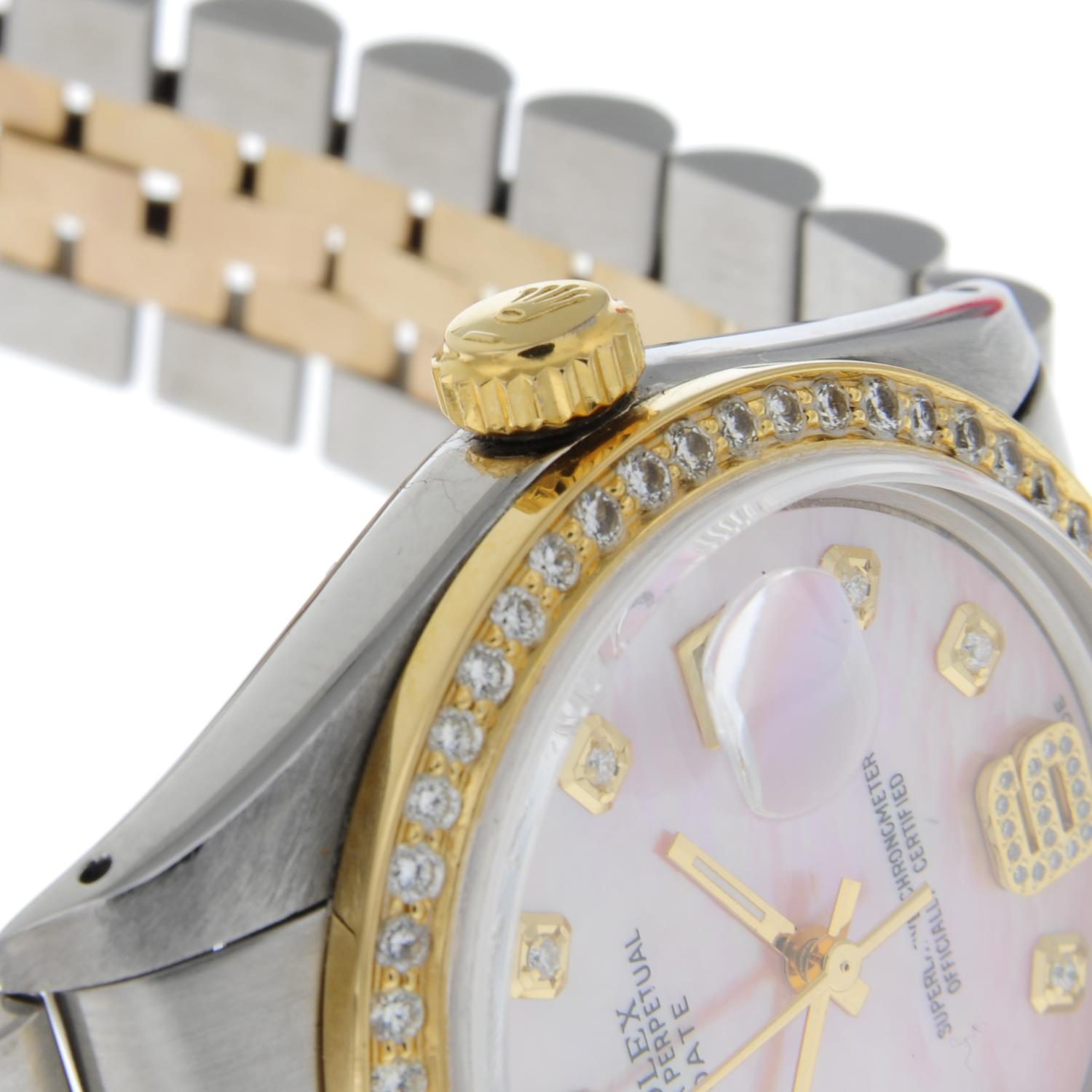 ROLEX - an Oyster Perpetual Date bracelet watch. - Image 5 of 5