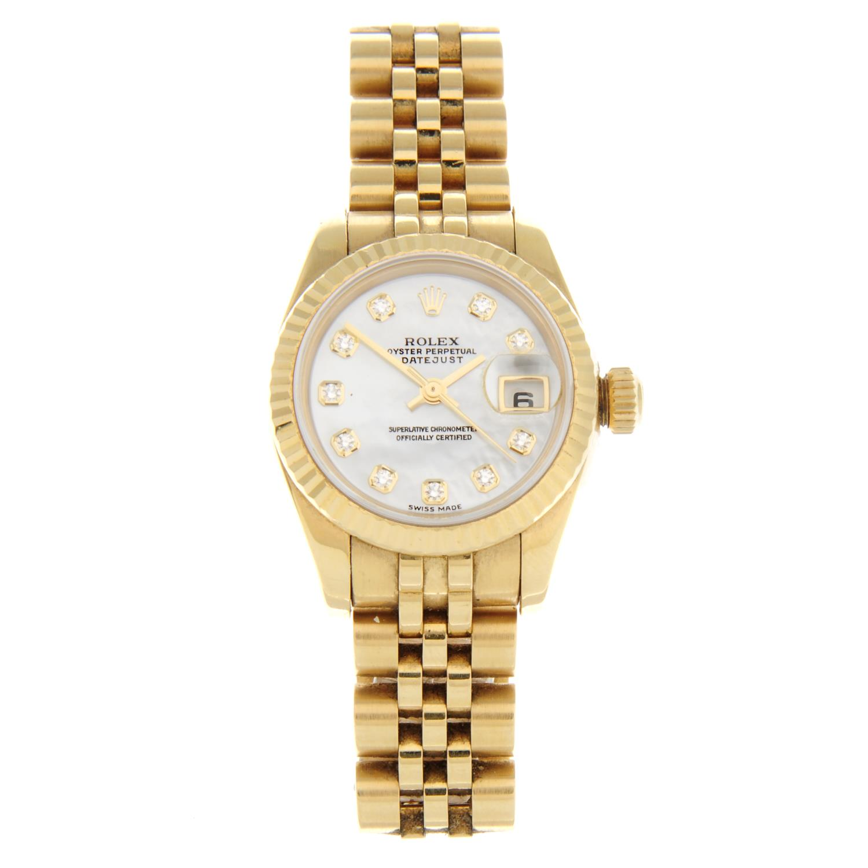 ROLEX - an Oyster Perpetual Datejust bracelet watch.