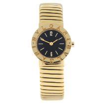 BULGARI - a Tubogas bracelet watch.