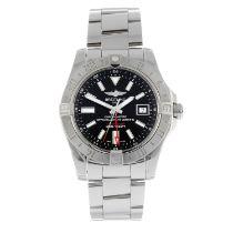 BREITLING - an Avenger II GMT braceletwatch.