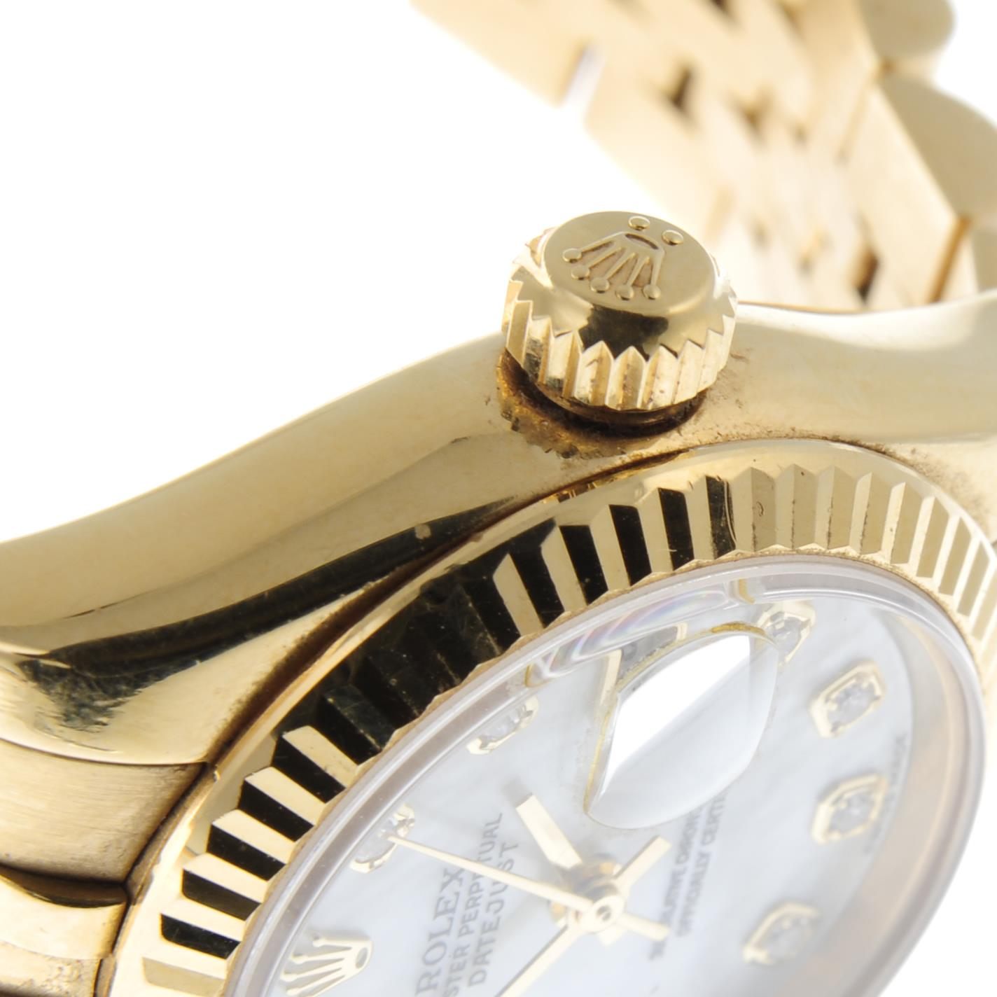 ROLEX - an Oyster Perpetual Datejust bracelet watch. - Image 6 of 6