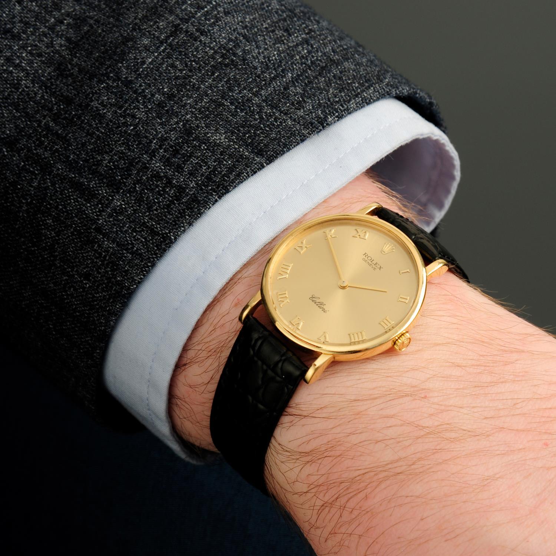 ROLEX - a Cellini wrist watch. - Image 3 of 5