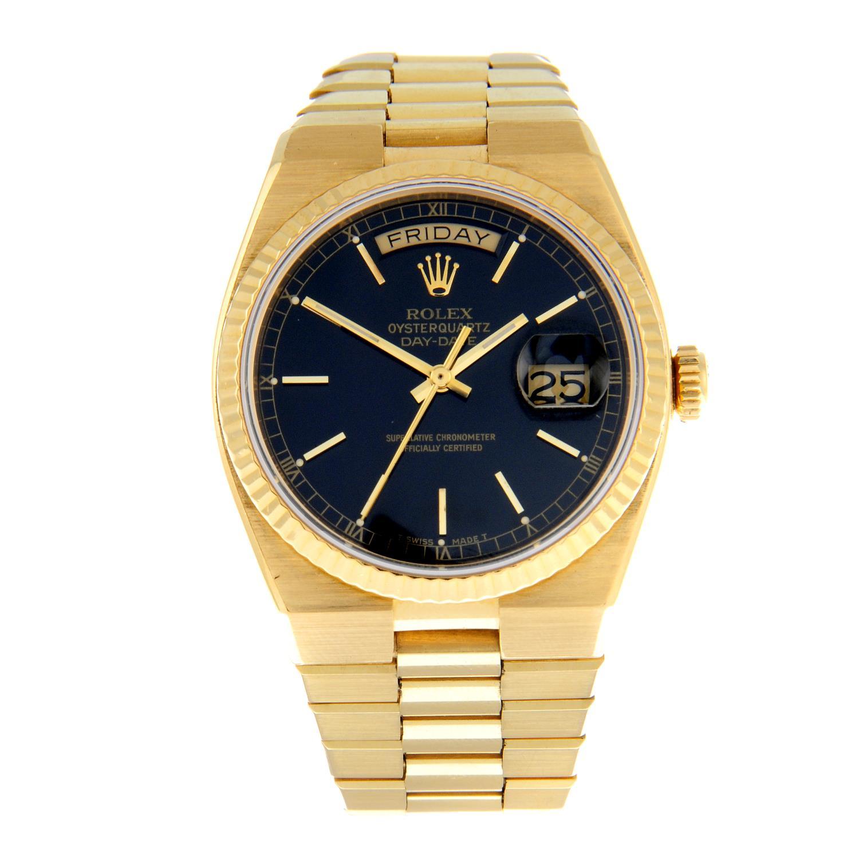 ROLEX - an Oysterquartz Day-Date bracelet watch.