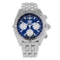 BREITLING - a Windrider CrosswindSpecial chronograph bracelet watch.Stainless steel case with