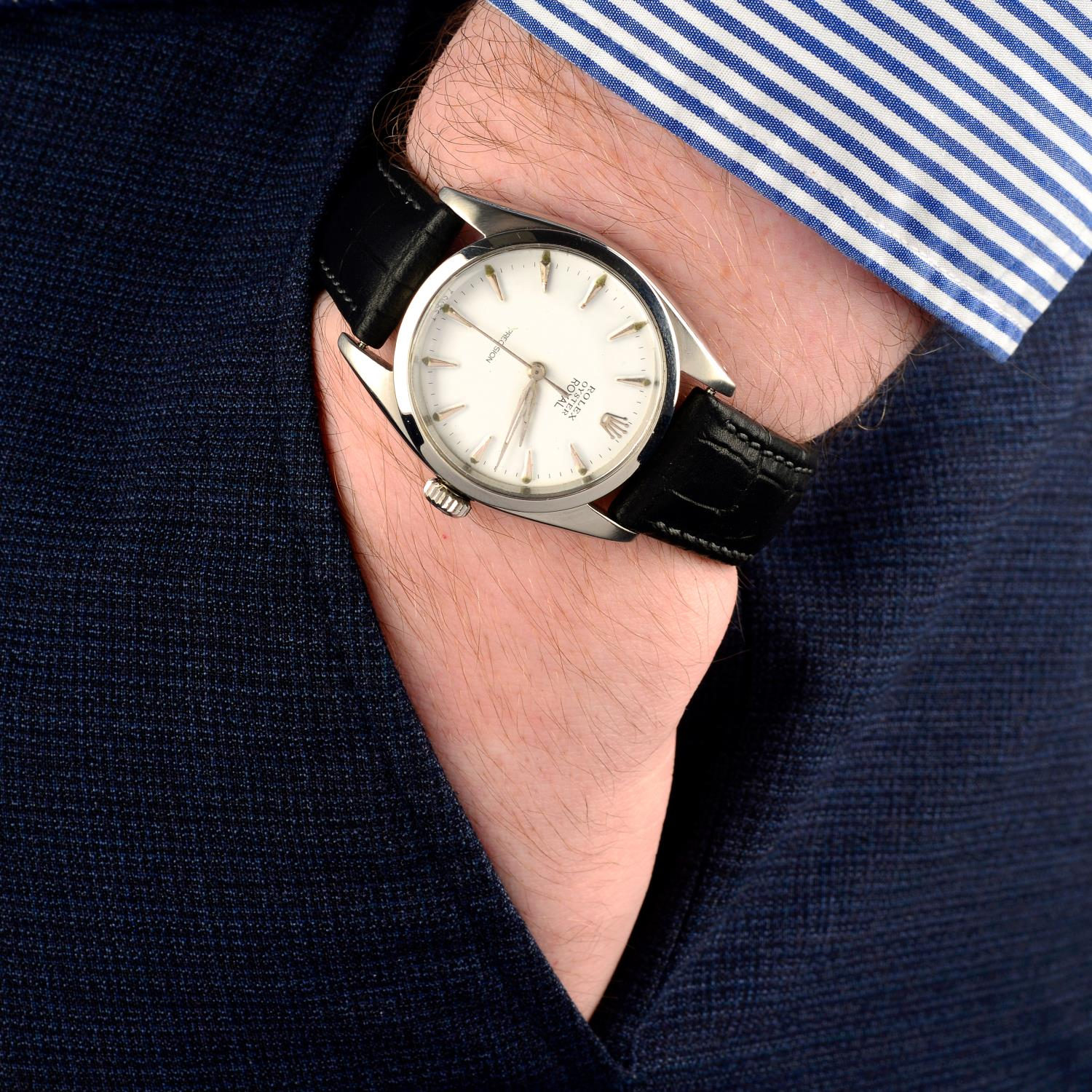 ROLEX - an Oyster Precision wrist watch. - Image 3 of 5