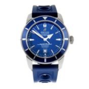BREITLING - a SuperOceanHeritage 46 wrist watch.Stainless steel case withcalibrated bezel.