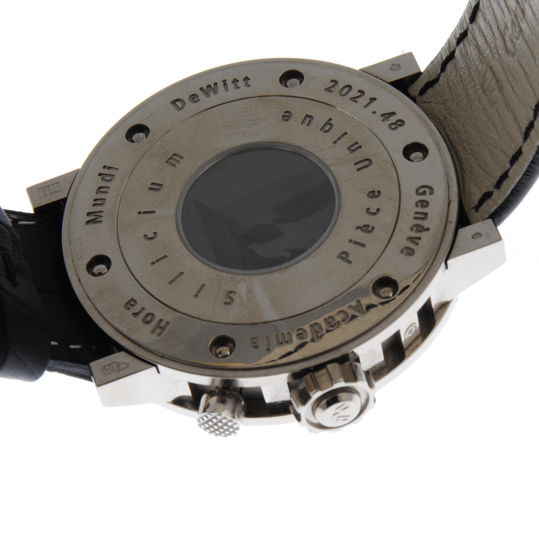 DE WITT - a Academia Silicium 'Hora Mundi' Multi Time Zone wrist watch. - Image 2 of 6