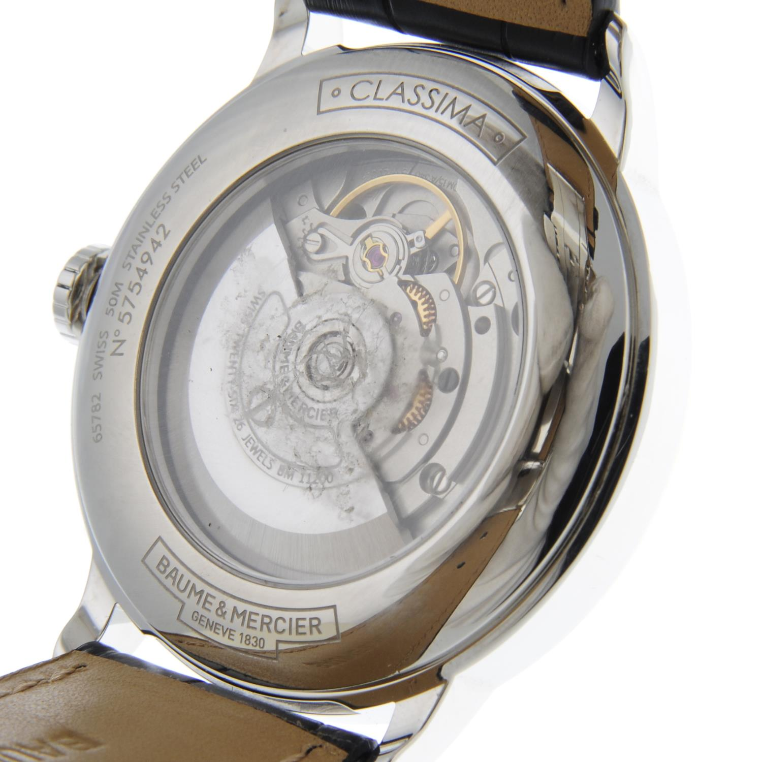 BAUME & MERCIER - a stainless steel Classima wrist watch. - Image 6 of 6