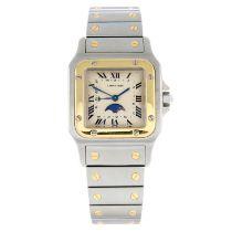 CARTIER - a Santos Galbee bracelet watch.