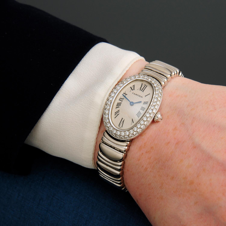CARTIER - a Baignoire Joaillerie bracelet watch. - Image 3 of 5