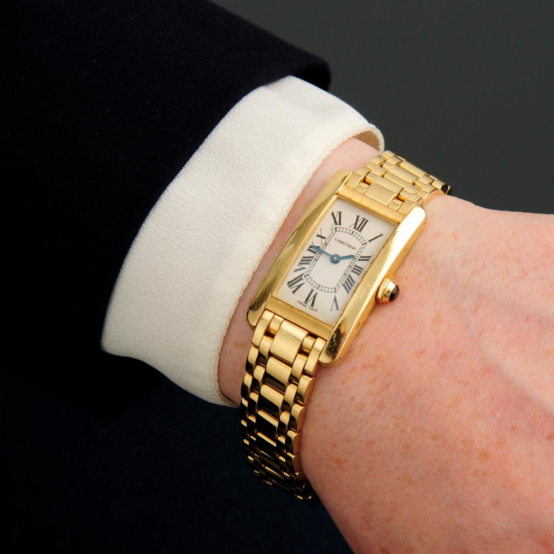 CARTIER - a Tank Americaine bracelet watch. - Image 3 of 5