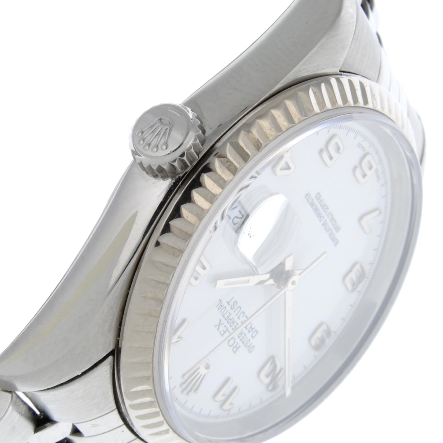 ROLEX - an Oyster Perpetual Datejust bracelet watch. - Image 5 of 6