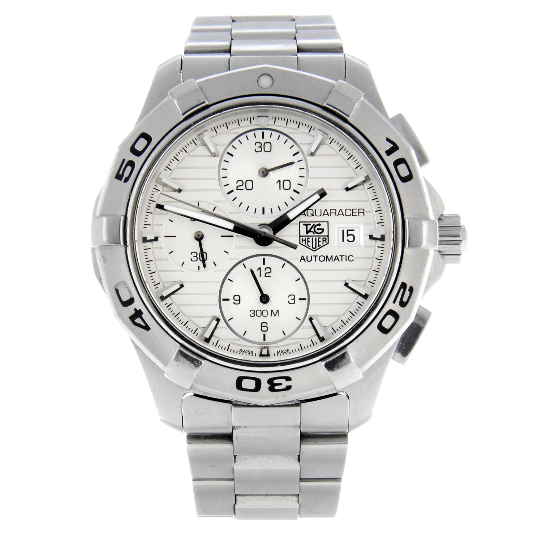 TAG HEUER - an Aquaracerchronograph bracelet watch.