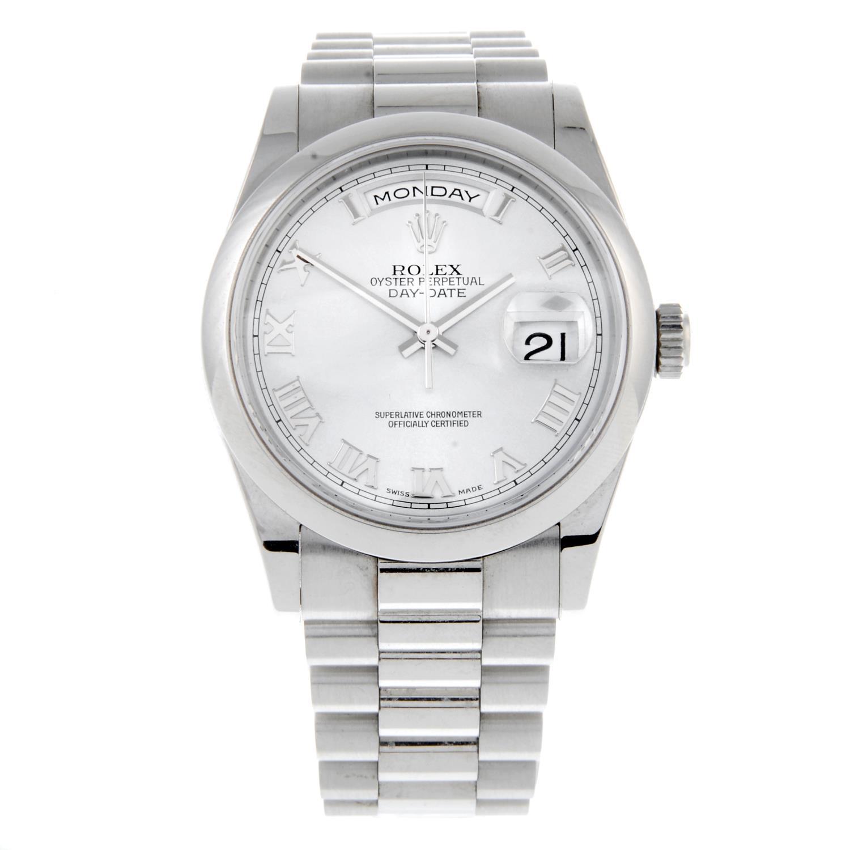 ROLEX - an Oyster Perpetual Day-Date bracelet watch.