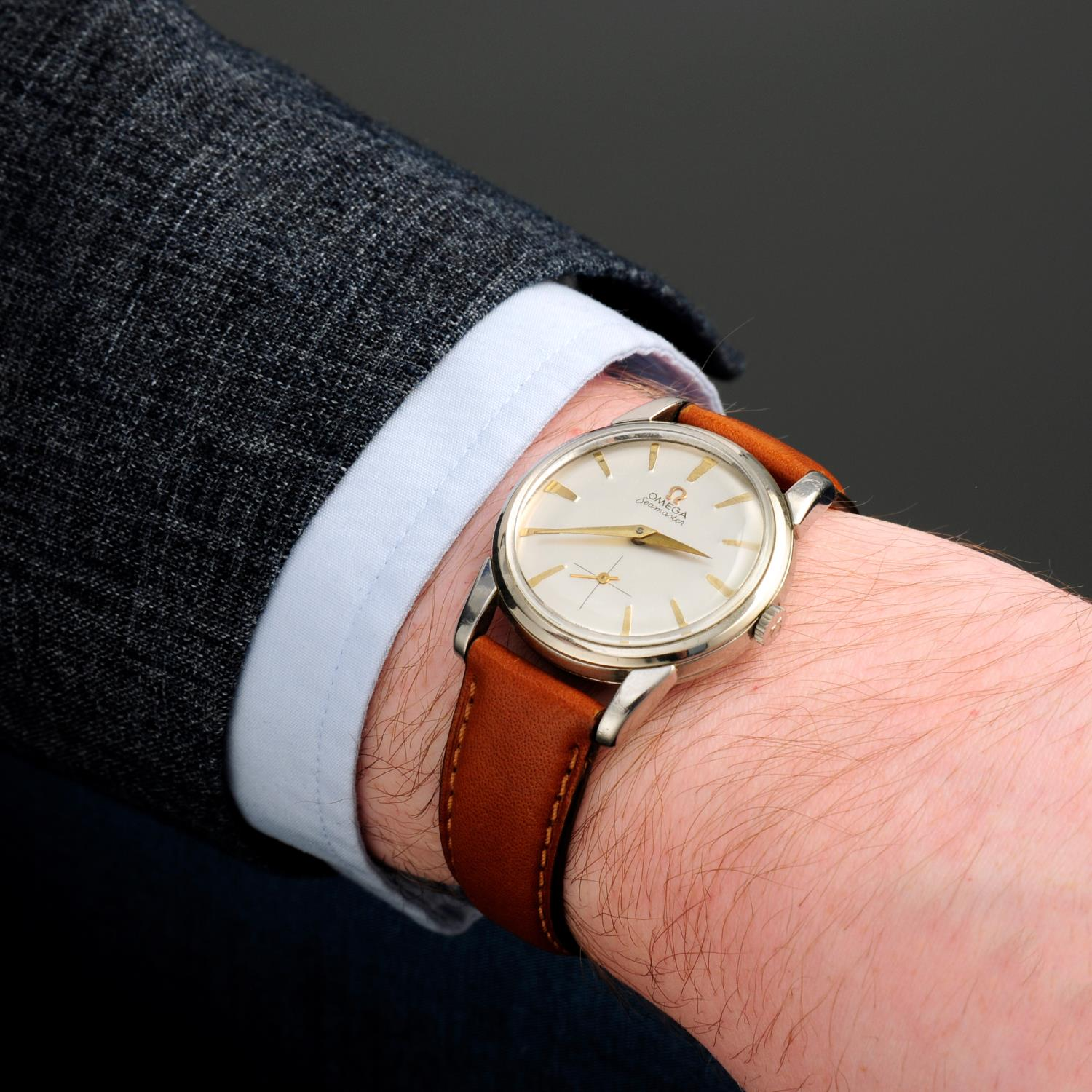 OMEGA - a Seamaster wrist watch.Stainless steel case. - Image 3 of 5