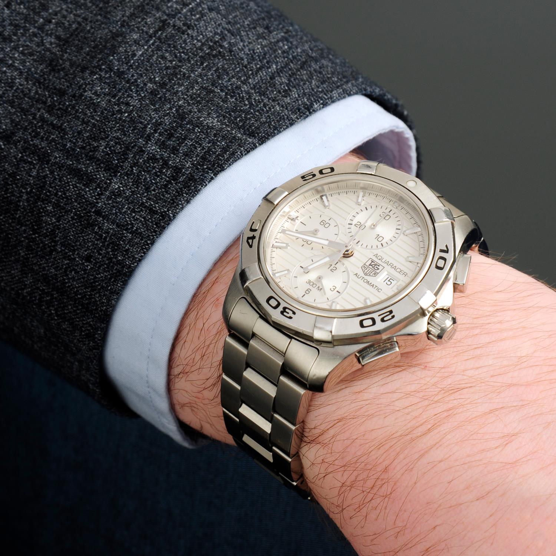 TAG HEUER - an Aquaracerchronograph bracelet watch. - Image 3 of 5