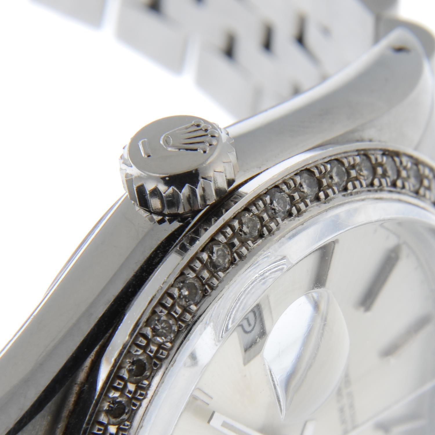 ROLEX - an Oyster Perpetual Datejust bracelet watch. - Image 4 of 5