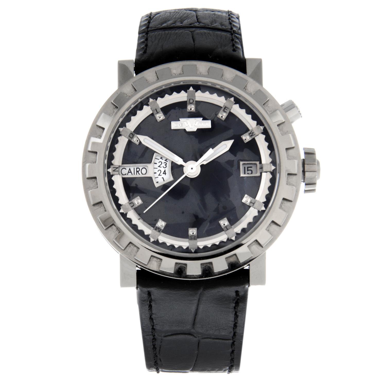 DE WITT - a Academia Silicium 'Hora Mundi' Multi Time Zone wrist watch.
