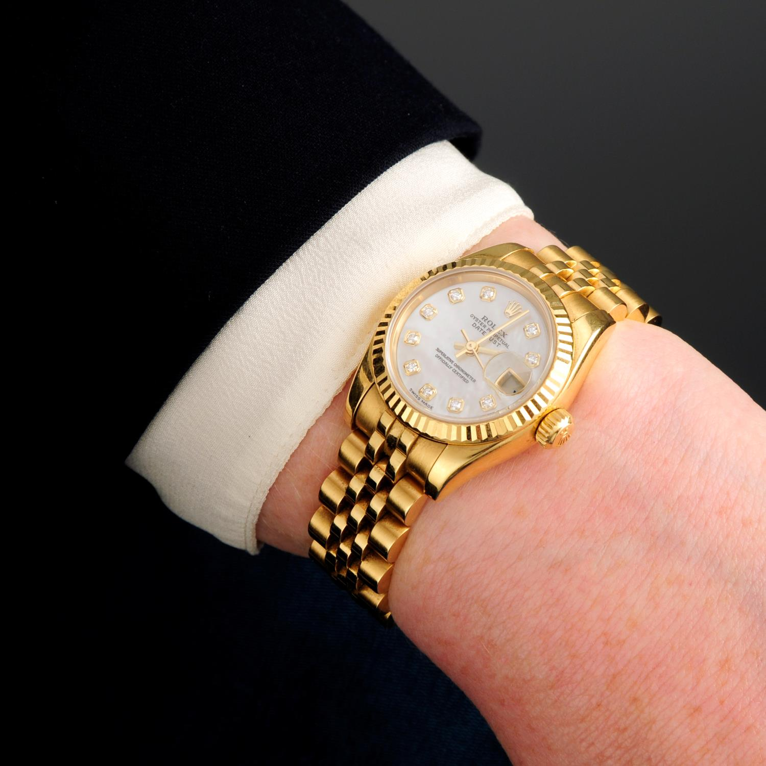 ROLEX - an Oyster Perpetual Datejust bracelet watch. - Image 3 of 6