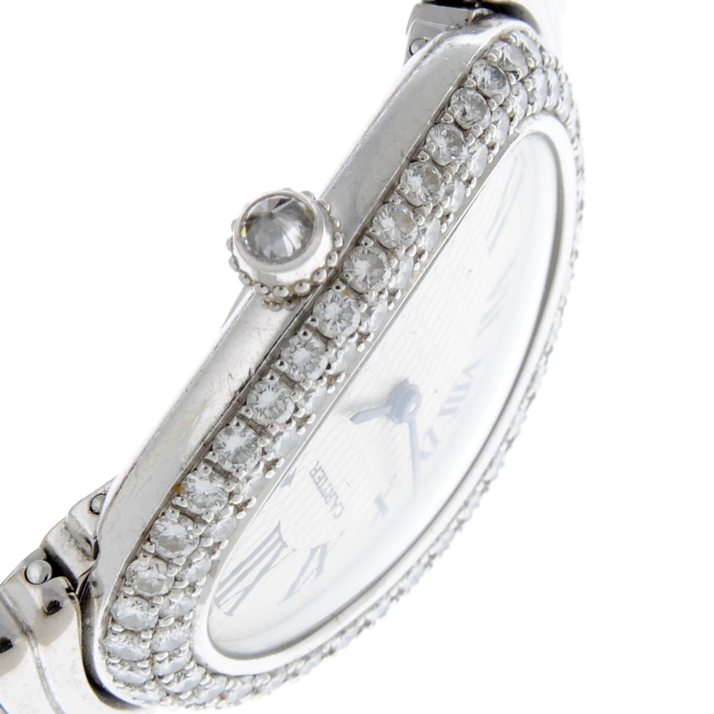 CARTIER - a Baignoire Joaillerie bracelet watch. - Image 4 of 5