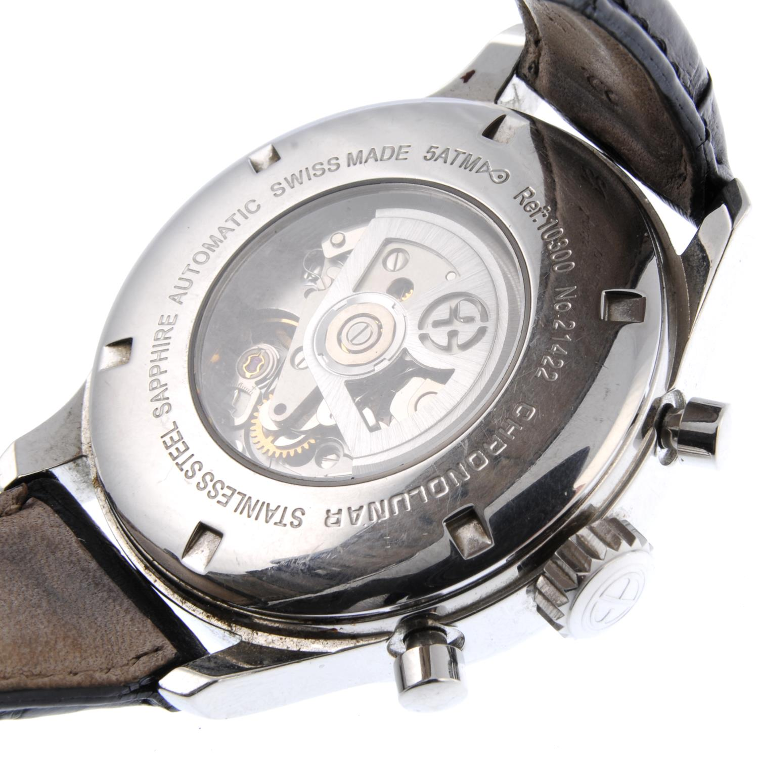 ERNST BENZ - a Chronolunar chronograph wrist watch.Stainless steel case with exhibition caseback. - Image 3 of 4