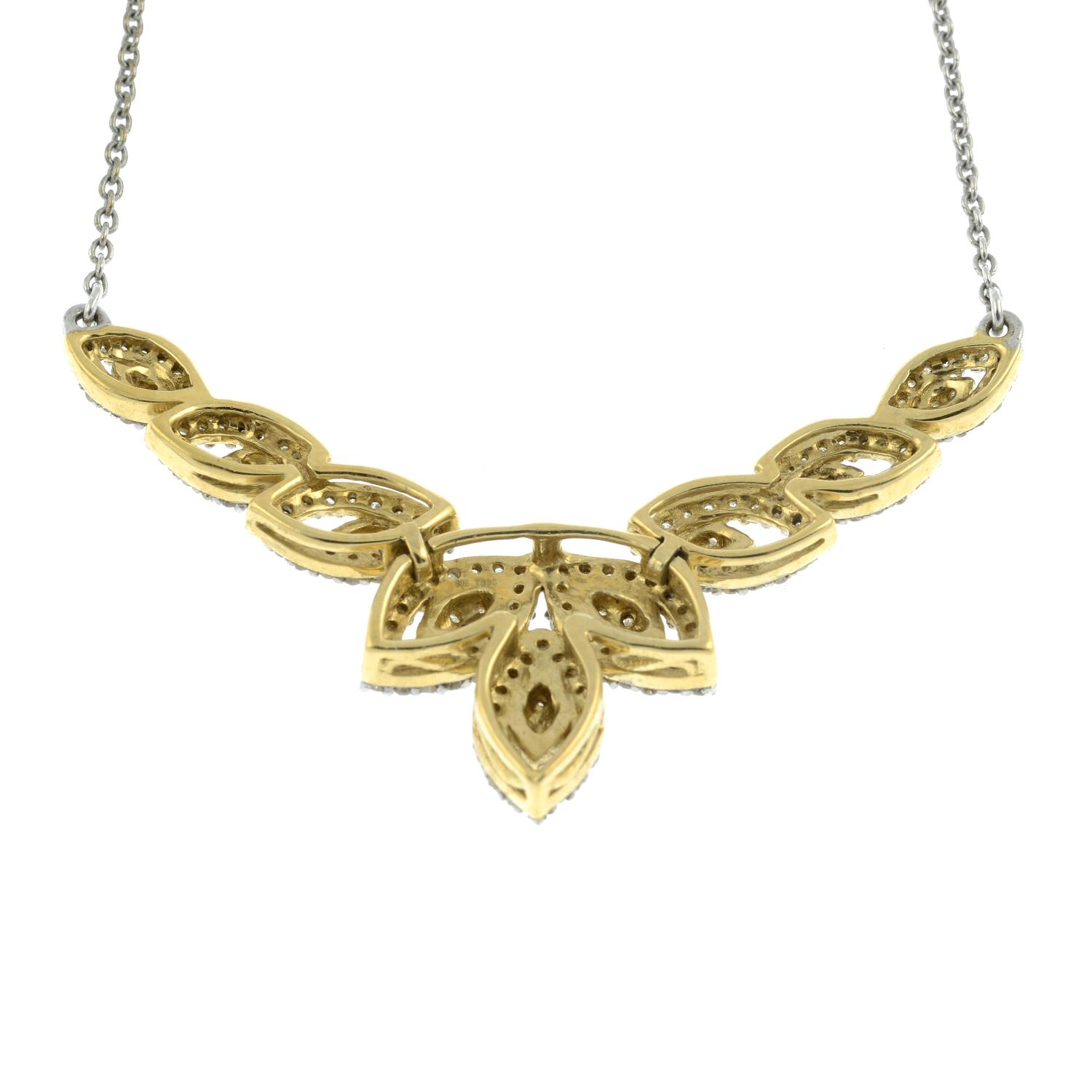 A diamond necklace.Stamped 925.Lengths 46.5cms. - Image 2 of 3
