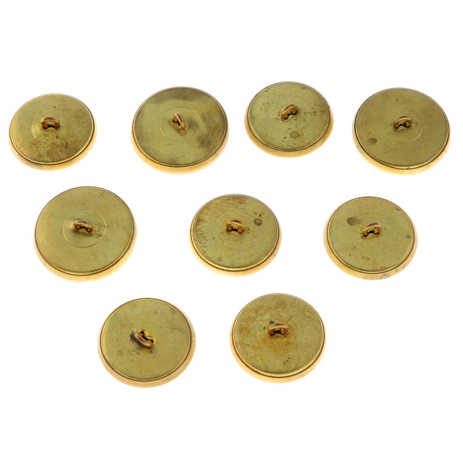 Nine textured monogram buttons, by Yves Saint Laurent.Lengths 2.7 and 3cms. - Image 3 of 3