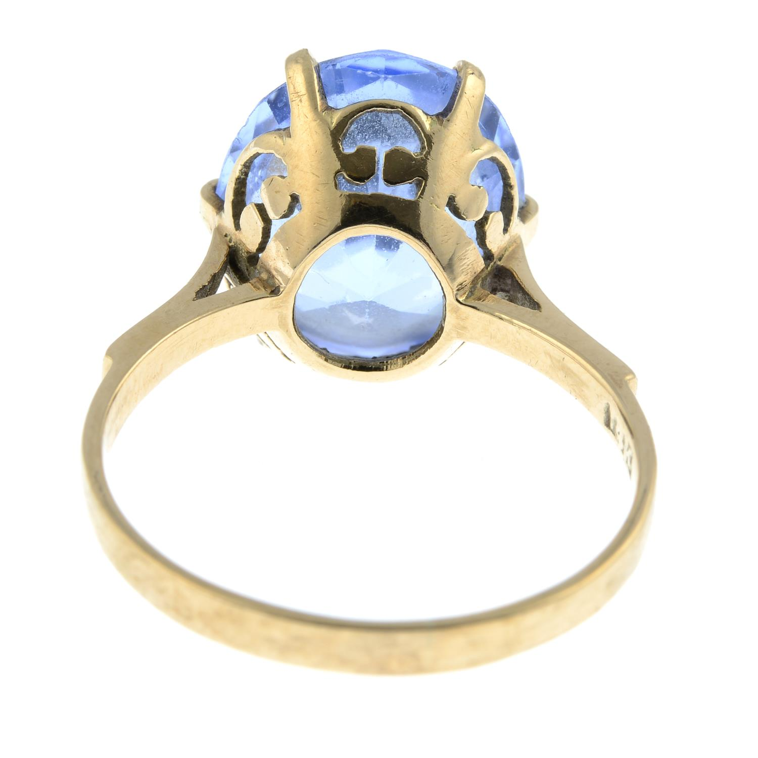 A topaz single-stone ring.Stamped 14K. - Image 3 of 3
