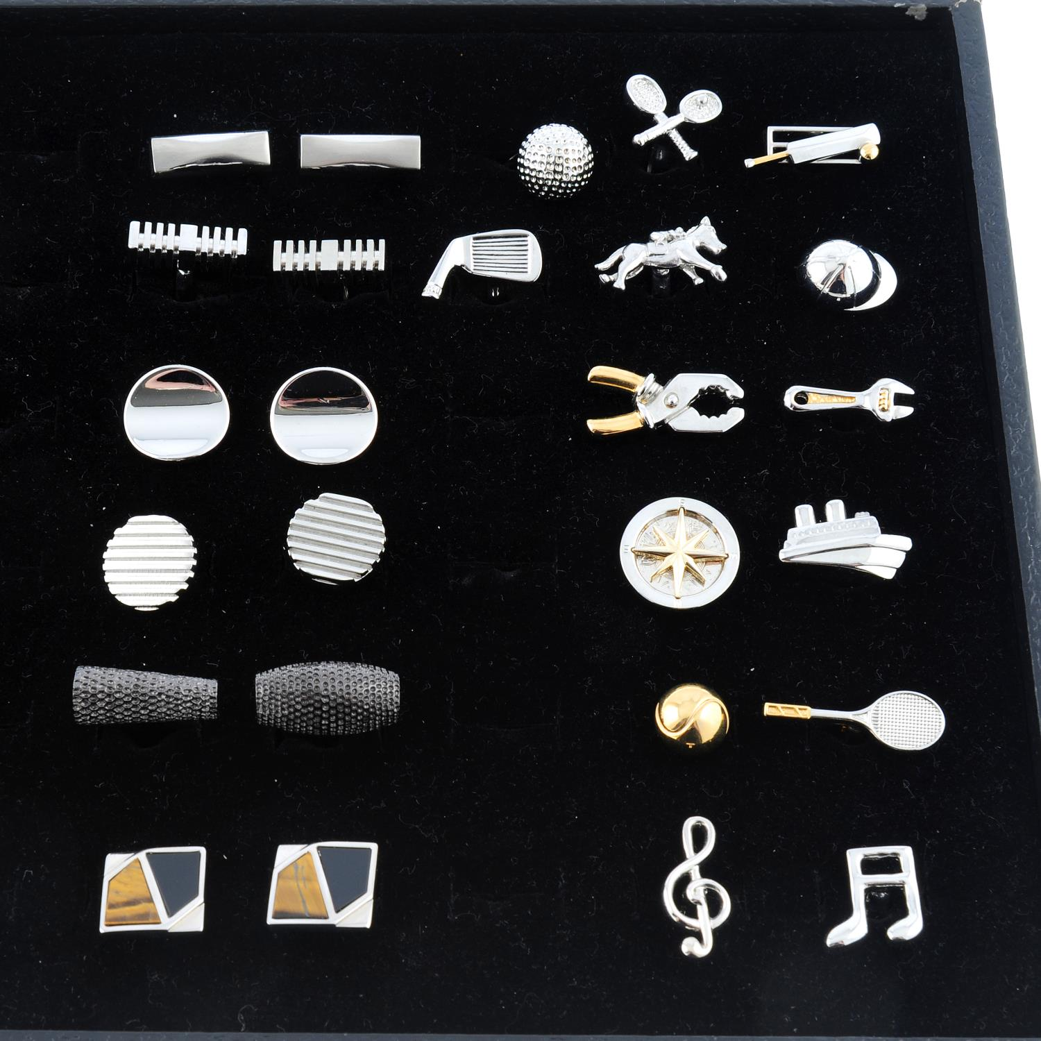 A selection of twenty-six pairs of cufflinks, to include seven pairs, by P, D. - Image 4 of 4