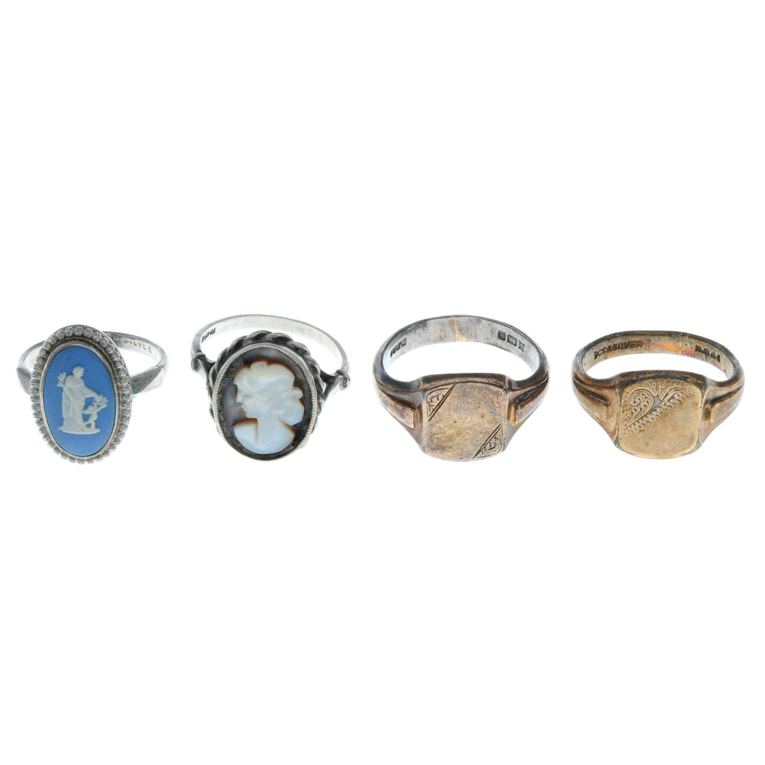 Fourteen early 20th century and later rings, - Image 2 of 4
