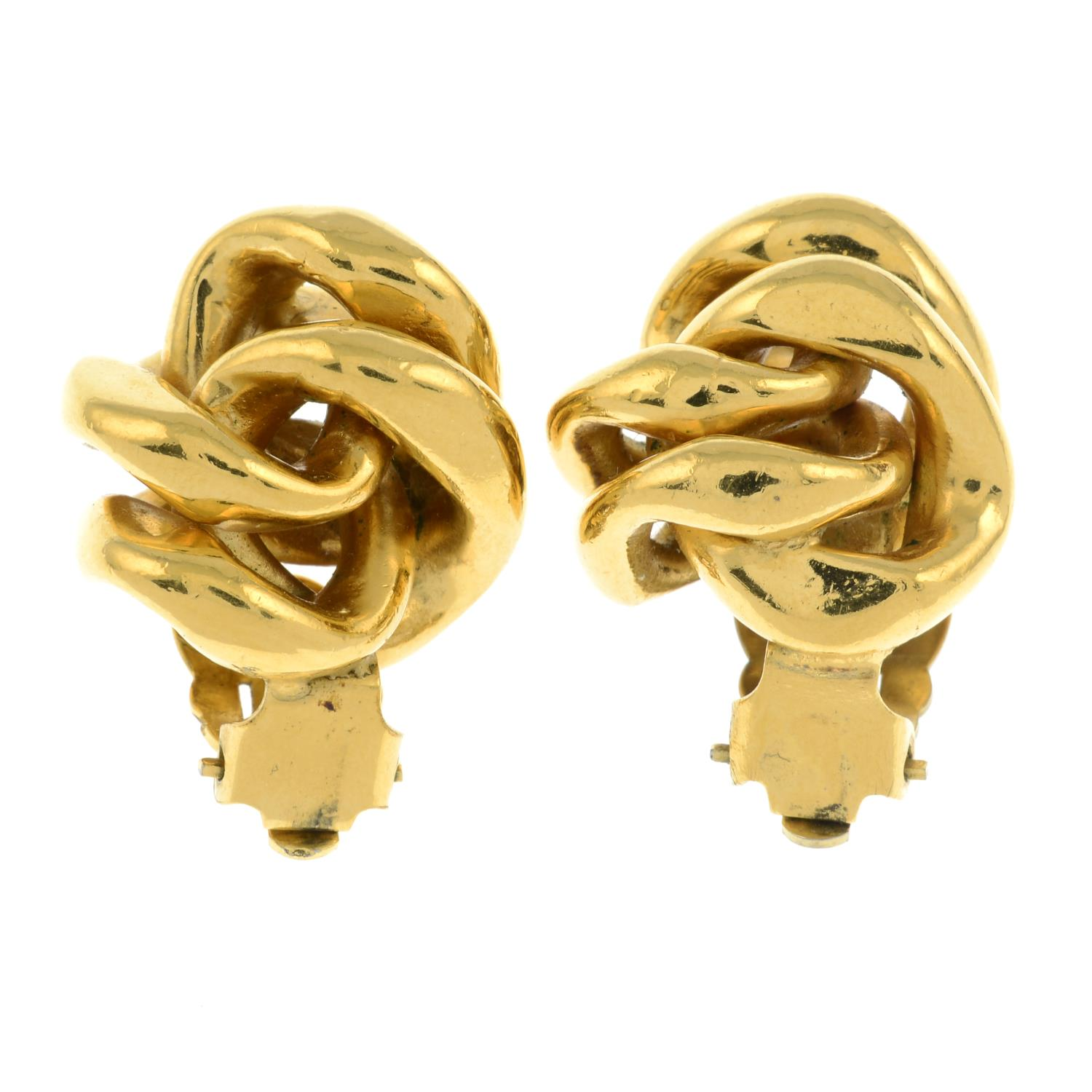 A pair of clip-on earrings, by Chanel.Signed Chanel.