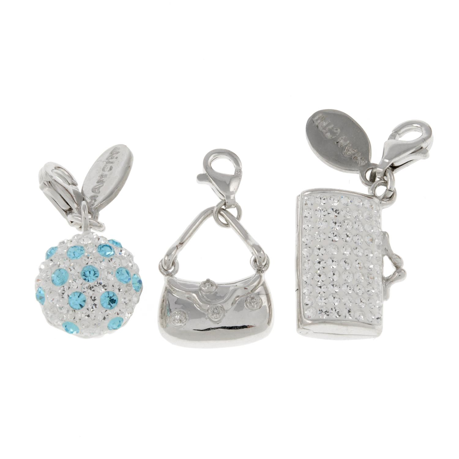 A selection of charms mainly, by Mancini.Many signed Mancini.
