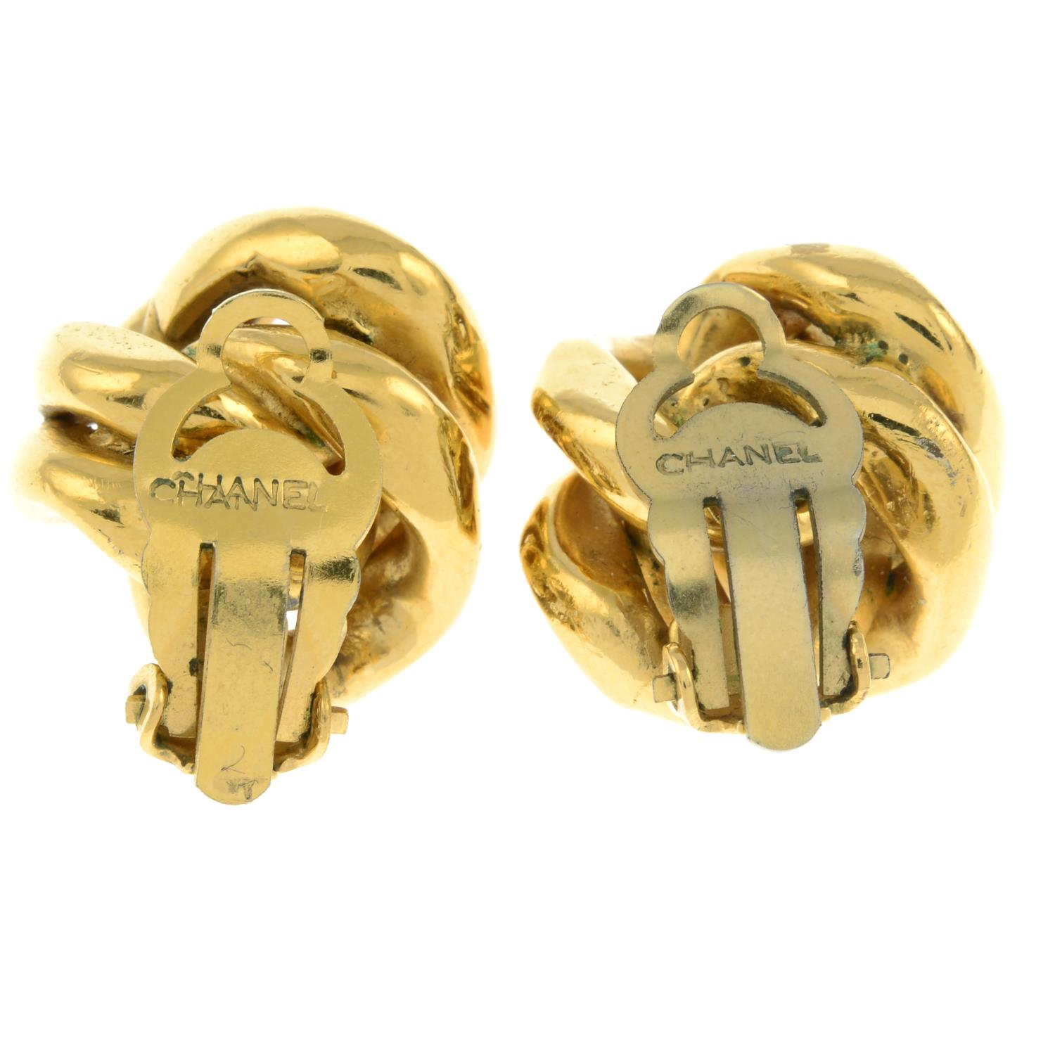 A pair of clip-on earrings, by Chanel.Signed Chanel. - Image 2 of 2