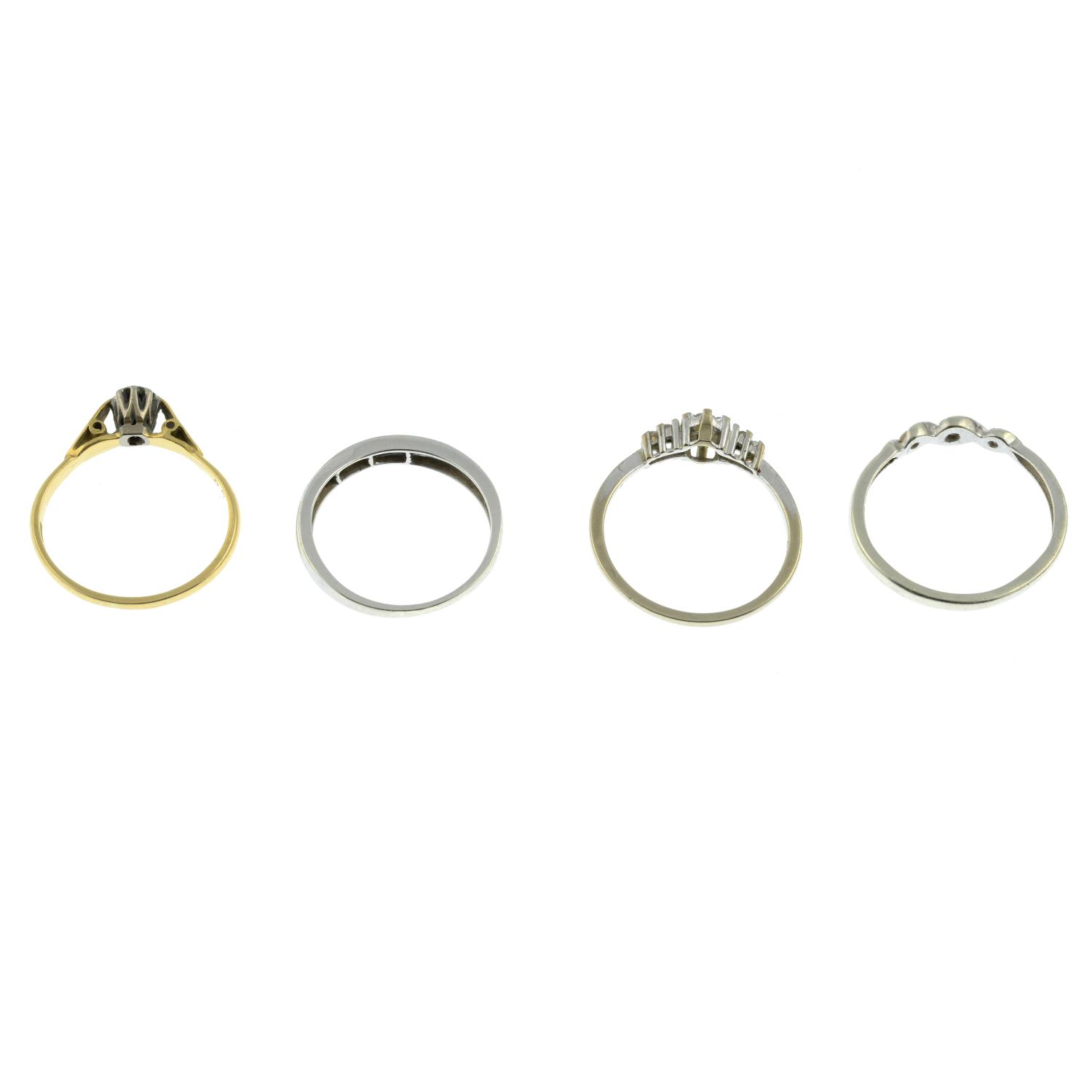 An 18ct gold single stone ring, - Image 3 of 3