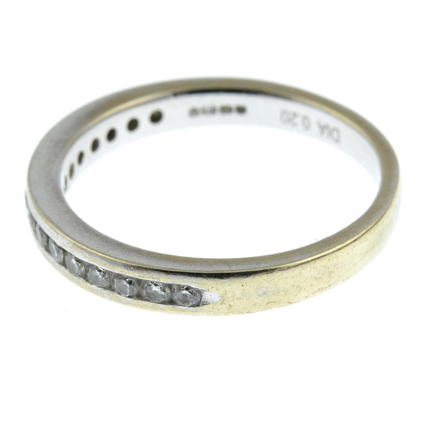 A 9ct gold diamond half eternity ring.Total diamond weight 0.2cts stamped to band.Hallmarks for - Image 2 of 3
